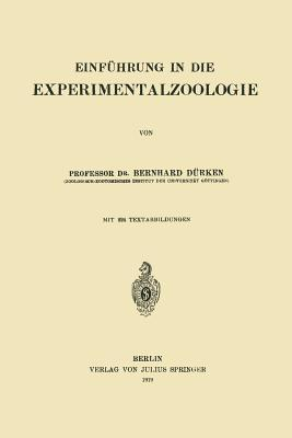 Einführung in Die Experimentalzoologie