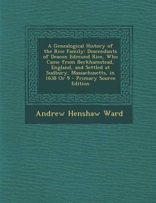 A Genealogical Histo...