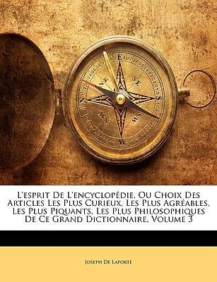 L'Esprit de L'Encycl...