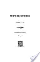Maine Biographies