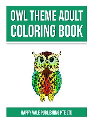 Owl Theme Adult Coloring Book