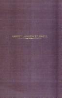Abbott Lawrence Lowell