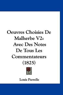 Oeuvres Choisies de Malherbe V2
