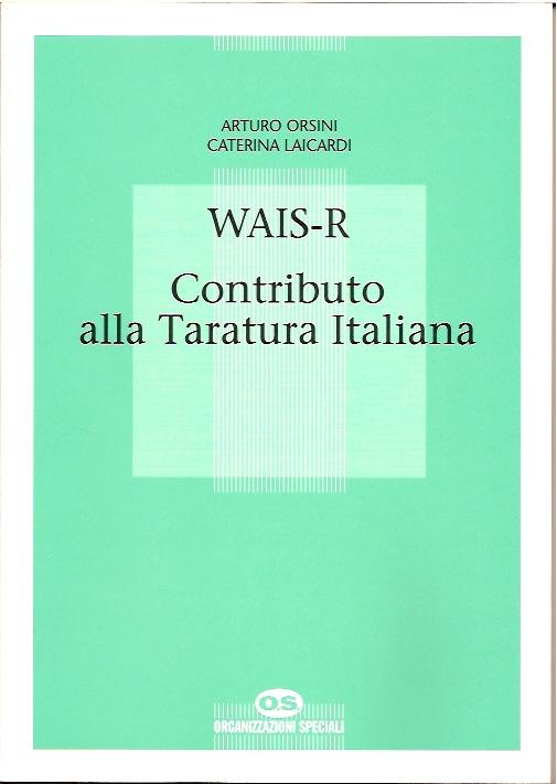 WAIS-R Contributo alla Taratura Italiana