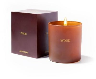 Wood Library Candle