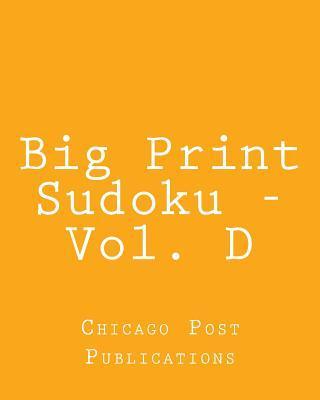 Big Print Sudoku