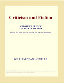 Criticism and Fiction (Webster's French Thesaurus Edition)