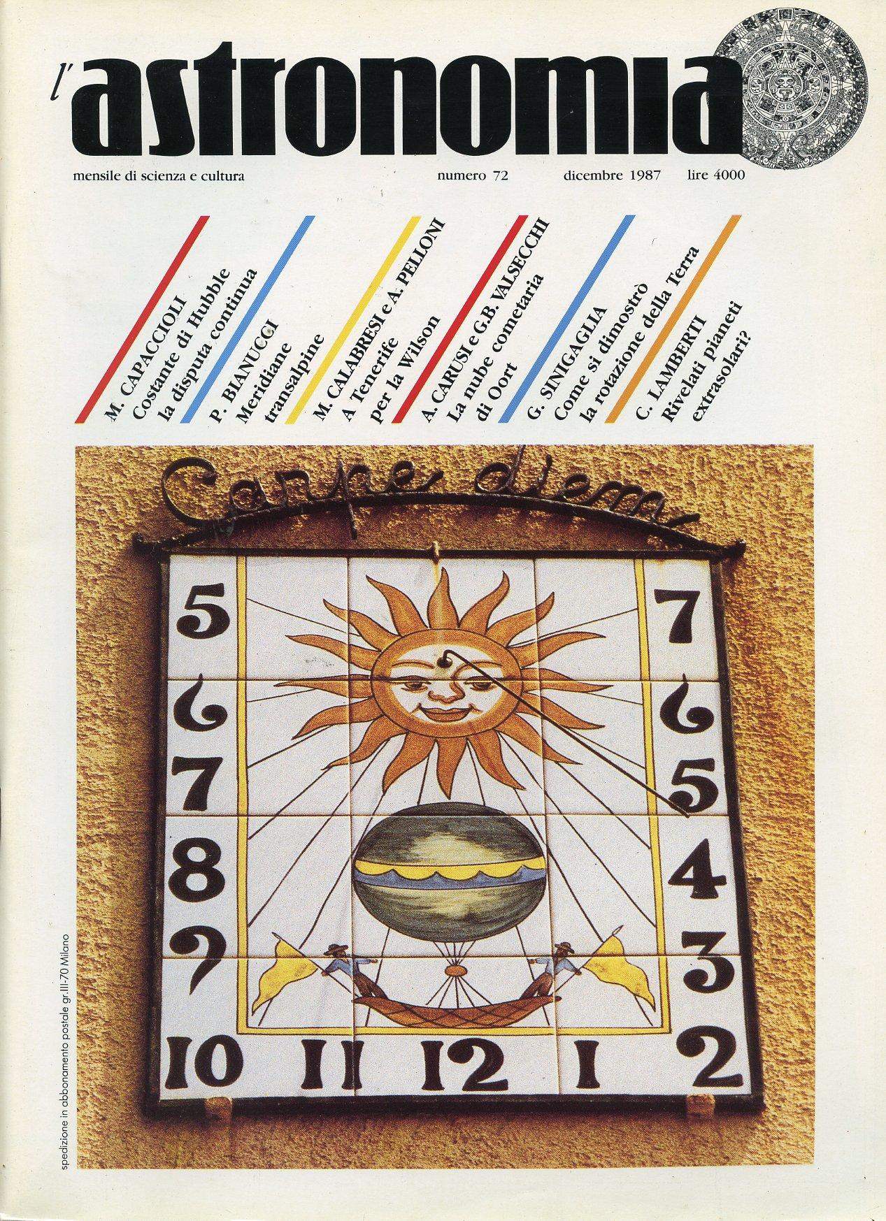 L'Astronomia, Anno IX, n.72
