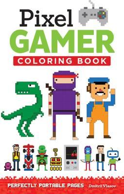 Pixel Gamer Adult Coloring Book