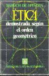 Etica Demostrada Segun El Orden Geometrico