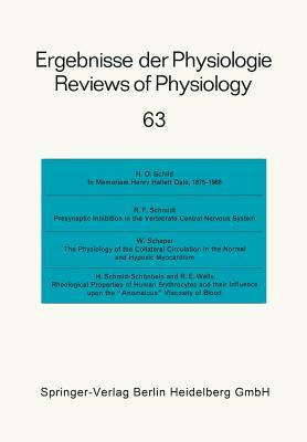 Ergebnisse Der Physiologie / Reviews of Physiology