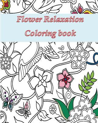 Flower Relaxation Adult Coloring Book