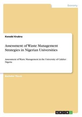 Assessment of Waste Management Strategies in Nigerian Universities
