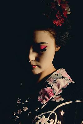 Evening Geisha Grid Notebook