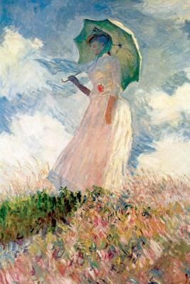 Claude Monet's 'study of a Figure Outdoors Art of Life Blank Journal