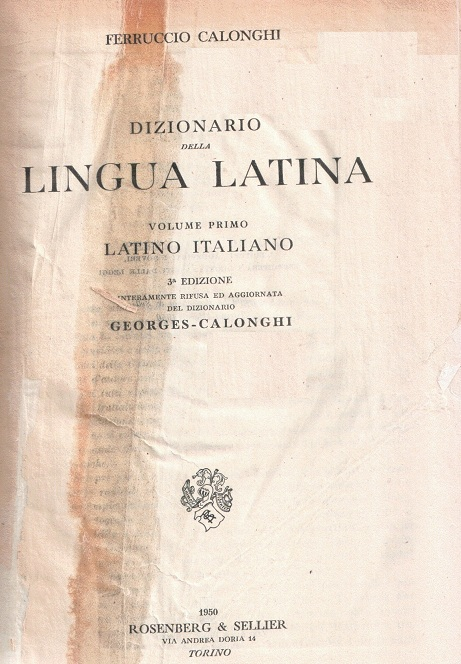 Dizionario della lingua latina - vol. 1