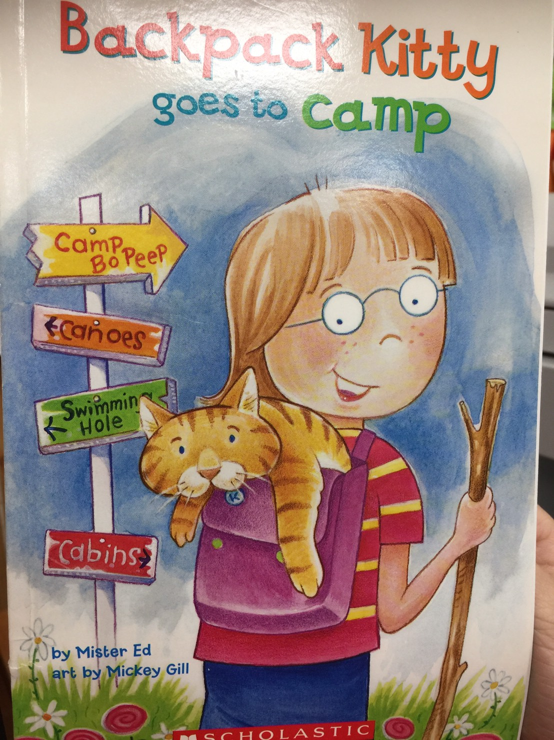 Backpack Kitty Goes to Camp
