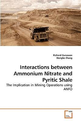 Interactions between Ammonium Nitrate and Pyritic Shale