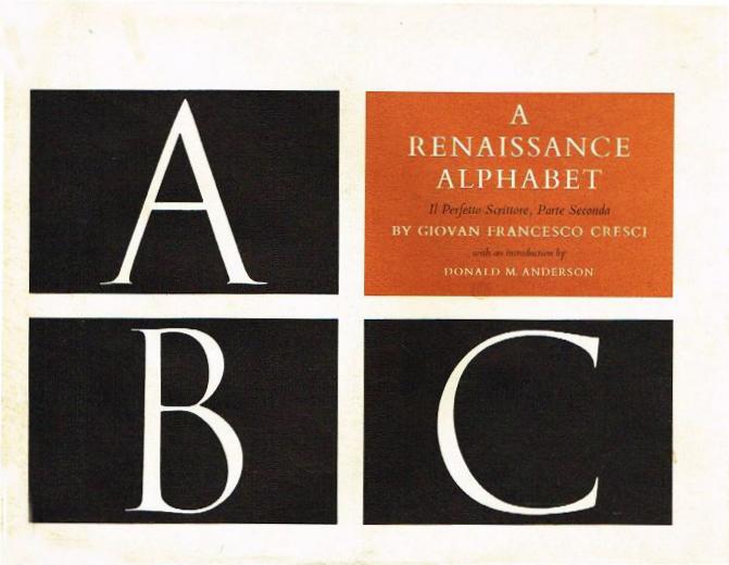 A Renaissance alphabet