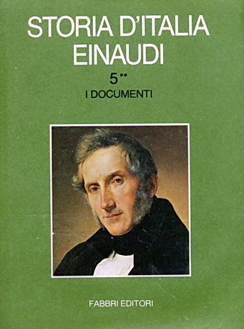 Storia d'italia Einaudi, Vol. 5**