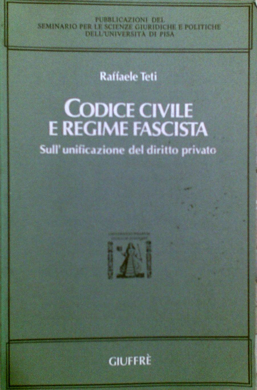 Codice civile e regime fascista