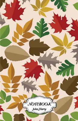 Notebook Journal Dot-grid, Colorful Leaf Pattern
