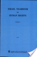 Israel Yearbook on Human Rights , Volume 12 (1982)