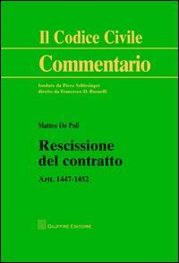 Rescissione del contratto. Artt. 1447-1452