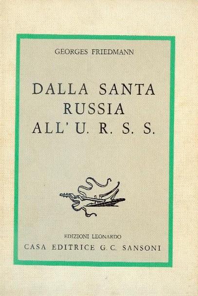 Dalla Santa Russia all'U.R.S.S.