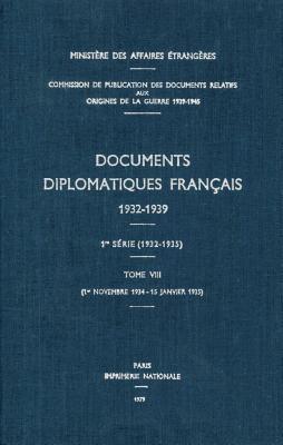 Documents Diplomatiques Francais, 1934