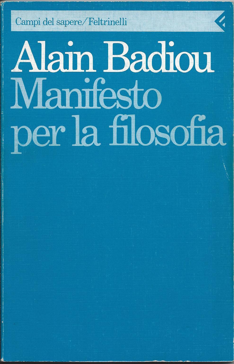 Manifesto per la filosofia