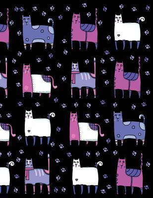My Big Fat Journal Notebook For Cat Lovers Funny Cats Wearing Socks Pattern 8