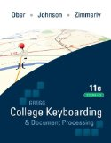 Gregg College Keyboarding and Document Processing (GDP); Lessons 1-60 text
