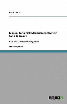 Manual for a Risk Management System for a company
