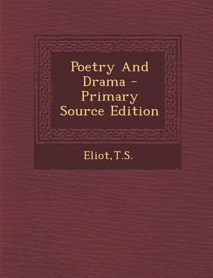 Poetry and Drama