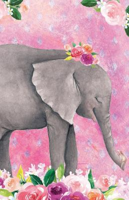 Journal Notebook For Animal Lovers Baby Elephant In Flowers