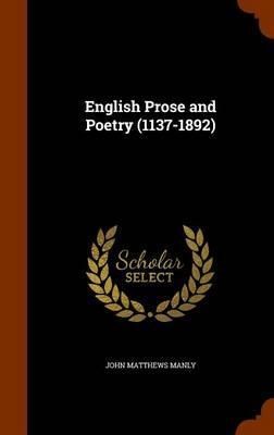 English Prose and Po...