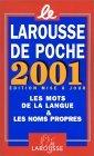 Le Larousse De Poche 2001 Edition Mise a Jour