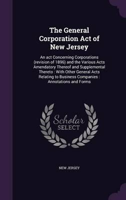 The General Corporation Act of New Jersey