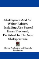 Shakespeare and Sir Walter Raleigh