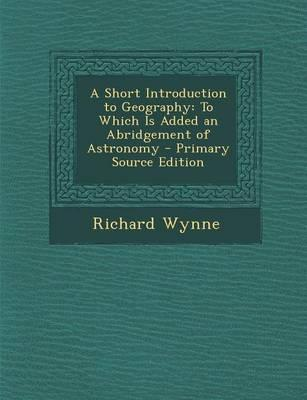 A Short Introduction to Geography