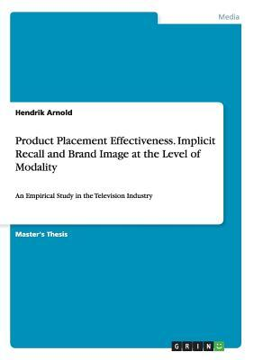 Product Placement Effectiveness. Implicit Recall and Brand Image at the Level of Modality