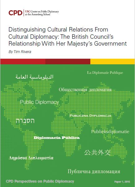 Distinguishing Cultural Relations from Cultural Diplomacy