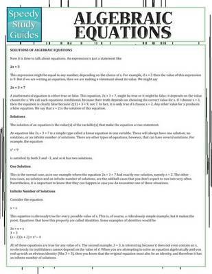Algebraic Equations