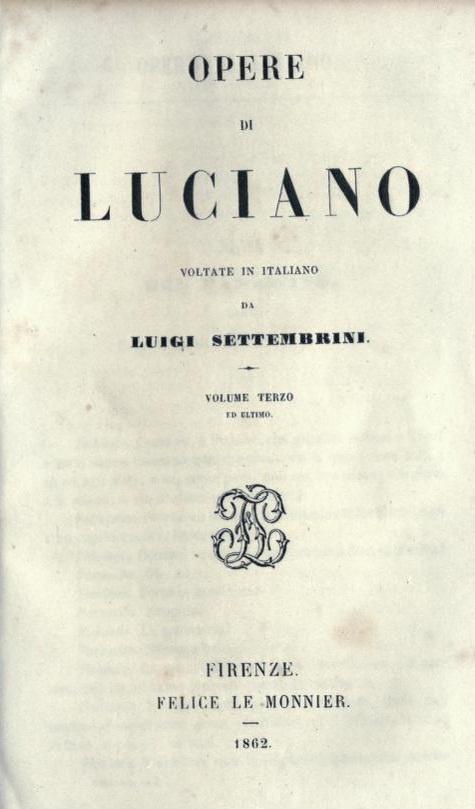 Opere di Luciano. Vo...