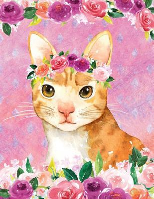 My Big Fat Journal Notebook For Cat Lovers Orange Tabby In Flowers