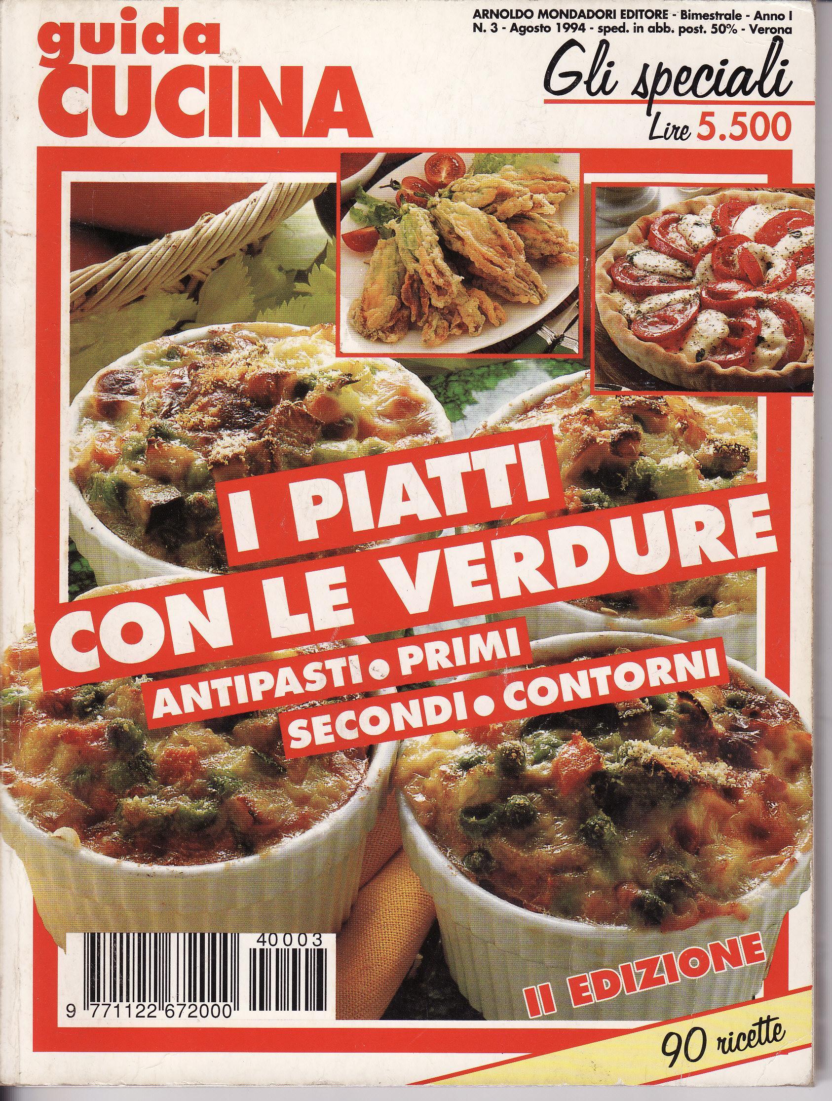 I piatti con le verdure