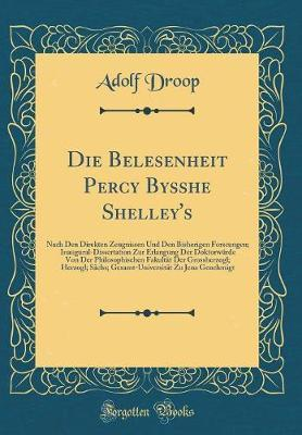 Die Belesenheit Percy Bysshe Shelley's