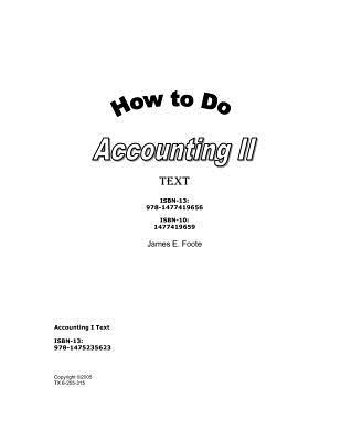 How to Do Accounting II Text