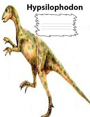 Hypsilophodon Dinosaur wide ruled lined paper Composition Book